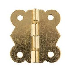 Под золото, петля для шкатулки с шурупами металл 2шт,  3,1х2,7см. Mr.Carving