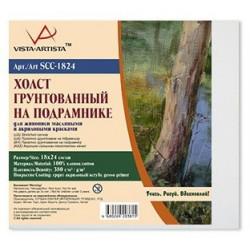 Холст грунтованный на подрамнике, 100% хлопок, 18х24см, 380 г/кв.м. Vista-Artista