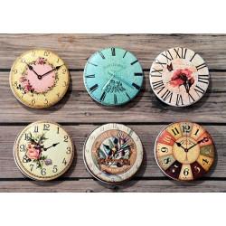 Часы 7, набор скрап-фишек для скрапбукинга 6шт. 2,5см АП