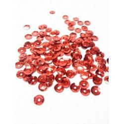 Красный, пайетки россыпью d6мм 10г Zlatka