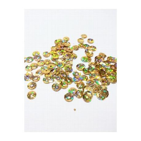 Золото, пайетки россыпью d6мм 10г Zlatka