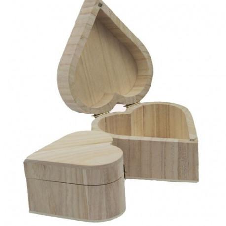 Шкатулка сердечко с магнитным замком, деревянная заготовка РТО, 11х10,5х6,5 см