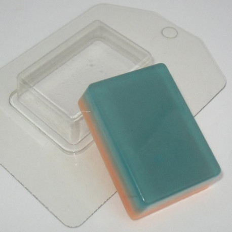 Прямоугольник, пластиковая форма для мыла 60г 68х48х20мм XD