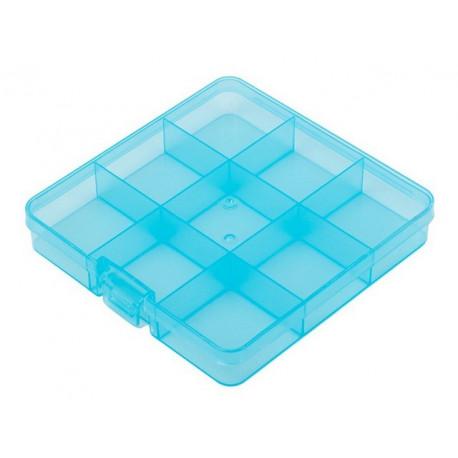Коробка пластик со съемными перегородками 13.5х13.7х2.3см, GAMMA