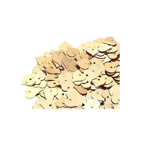 Золото, пайетки-сердце россыпью d13мм 10г Zlatka