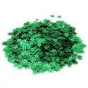 Зеленый, пайетки-звездочка россыпью d13мм 10г Zlatka