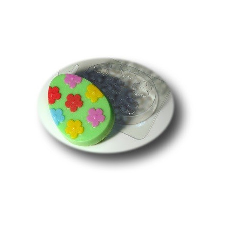 Яйцо с узором №4, пластиковая форма для мыла МФ