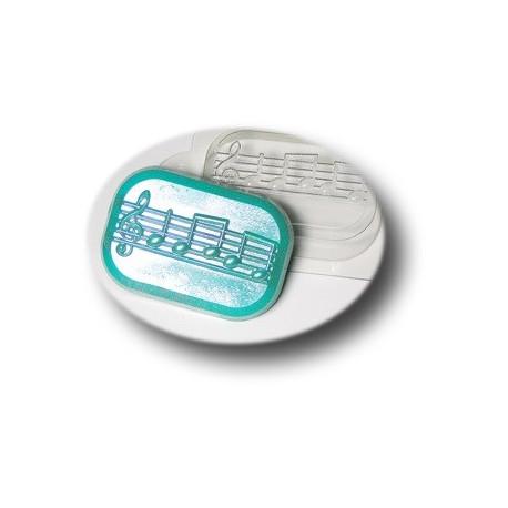 Ноты, пластиковая форма для мыла МФ