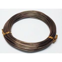 Т.коричневый, проволока для плетения d1мм 10м, WW-art