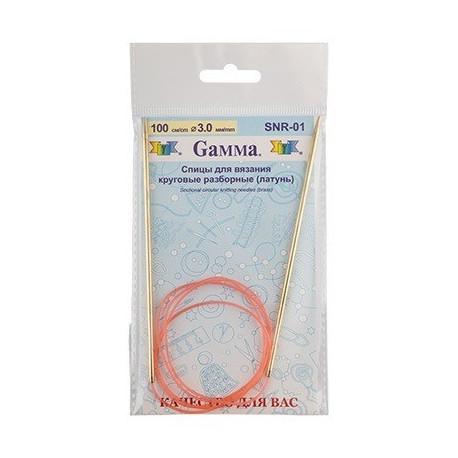 Спицы круговые разборные латунь d 3,0мм, 100см, GAMMA