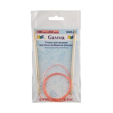 Спицы круговые разборные латунь d 5.0мм, 100см, GAMMA