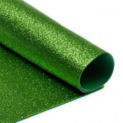 Зеленый, фоамиран глиттерный 2мм 20*30 см