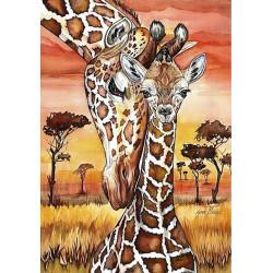 Жирафы, набор для изготовления картины стразами 27х38см 24цв. полная выкладка Гранни