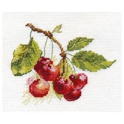 Вишня, набор для вышивания крестиком 11х8см 16цветов Алиса