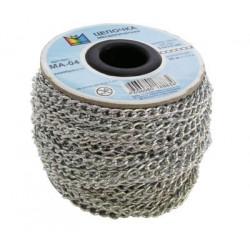 Под серебро, цепочка декоративная 6.5х3.8мм 1м алюминий Micron