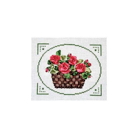 Душистое богатство, набор для вышивания крестиком и лентами 14х12см 2+6цветов Panna