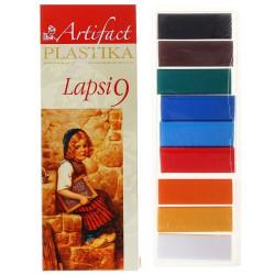 Lapsi. набор полимерной глины 9 классических цветов 9х20гр Artifact