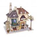 Кафе. Домик Британии пазл 3D,  фанера с нанесенным рисунком 3мм 16.3х13х16.5см 46элементов Rezark