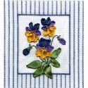 Дыхание весны, набор для вышивания крестиком и лентами 14х14см 3+5цветов Panna