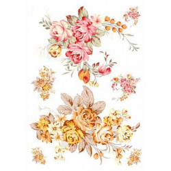Крупные цветы, бумага рисовая для декупажа, 32х45 см. Love2Art