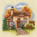 Осенний сад, набор для вышивания крестиком, 13х13см, 26цветов Panna