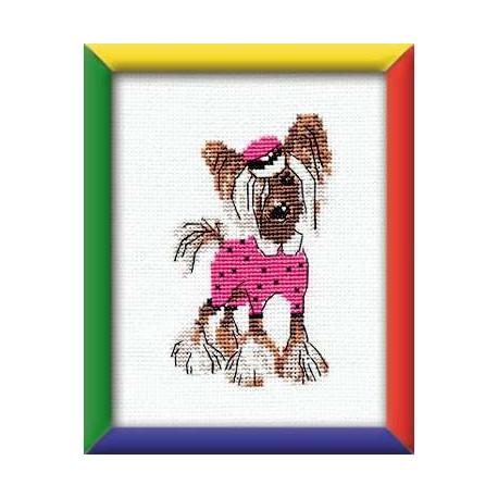 Хохлатая модница, набор для вышивания крестиком, 13х16см, мулине хлопок 7цветов Риолис