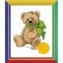 Медвежонок, набор для вышивания крестиком 13х16см мулине хлопок 7цветов Риолис