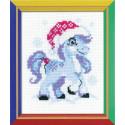 Нежный-снежный, набор для вышивания крестиком, 13х16см, мулине хлопок 6цветов Риолис