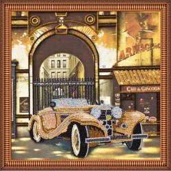 Авто-ретро 2, набор для вышивки бисером, 30х30см, 11цветов АбрисАрт