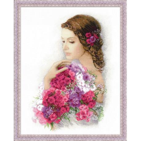 Очарование лета, набор для вышивания крестиком, 35х45см, мулине хлопок Anchor 29цветов Риолис