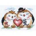 Любовь в доме, набор для вышивания крестиком 16х11см 11цветов Panna