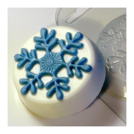 Первая снежинка, пластиковая форма для мыла МФ