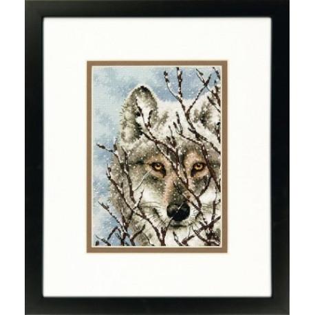 Волк, набор для вышивания крестиком, 13х18см, Dimensions