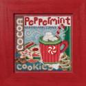 Угощение санты, набор для вышивания бисером и нитками на перфорированной бумаге, 13х13см Mill Hill