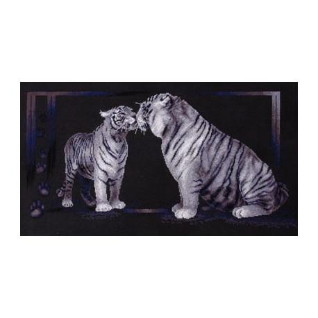 Тигриная любовь, набор для вышивания крестиком, 59х31см, 7цветов Panna