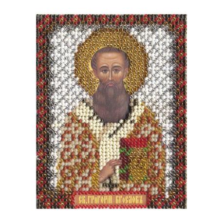 Григорий, набор для вышивания бисером 9х11см 15цветов Panna