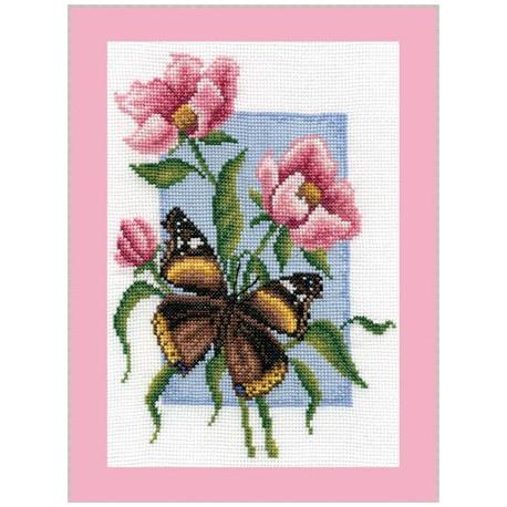 Адмирал, набор для вышивания крестиком, 13х19см, 21цвет Panna