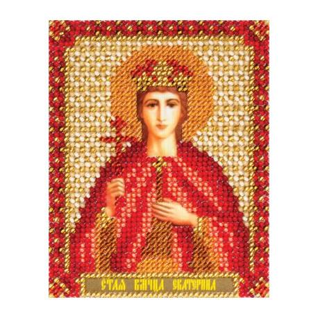Екатерина, набор для вышивания бисером 9х11см 12цветов Panna