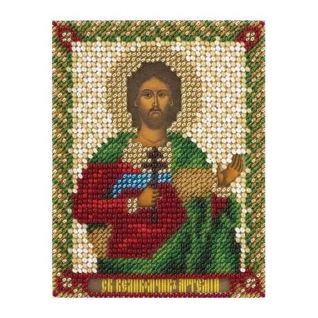 Артем, набор для вышивания бисером 9х11см 15цветов Panna