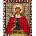 Лариса, набор для вышивания бисером 9х11см 12цветов Panna