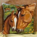 Материнская нежность(подушка), набор для вышивания крестиком31х31см 23цвета Panna