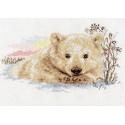 Северный медвежонок, набор для вышивания крестиком 27х16см 17цветов Алиса