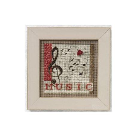 Мелодия, набор для вышивания бисером и нитками на перфорированной бумаге, 13х13см Mill Hill