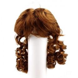 Каштан, парик локоны, волосы для кукол П80