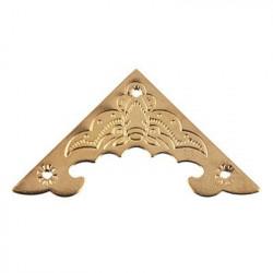 Под золото, набор накладных уголков с гвоздиками, 4 шт. 4х4см. Mr.Carving