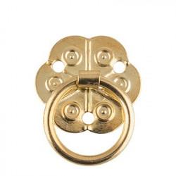 Под золото, ручка для шкатулки с гвоздиками металл,  2х2,5см. Mr.Carving