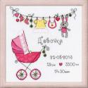С дочкой!, набор для вышивания крестиком, 20х20см, мулине хлопок Anchor 10цветов Риолис