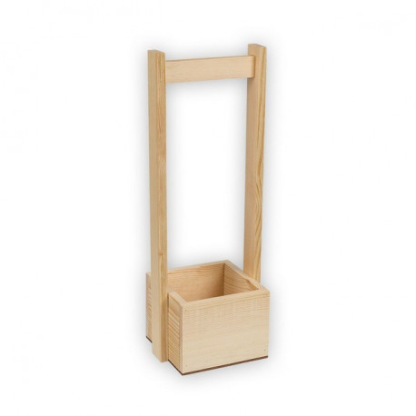 Коробка с ручкой малая, заготовка для декорирования сосна,12х12х9см Mr.Carving