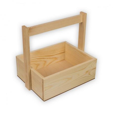 Коробка с ручкой, заготовка для декорирования сосна, 25х20х9см Mr.Carving