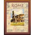 Города мира.Рим, набор для вышивания крестиком, 30х40см, 22цвета, частичная Риолис